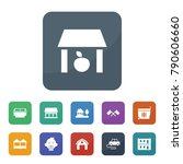 small icons. vector collection... | Shutterstock .eps vector #790606660