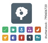 leaf icons. vector collection... | Shutterstock .eps vector #790606720