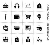 market icons. vector collection ...