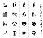 happy icons. vector collection... | Shutterstock .eps vector #790607620