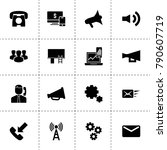 communication icons. vector...