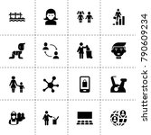 people icons. vector collection ... | Shutterstock .eps vector #790609234