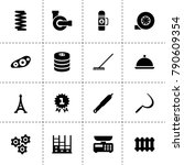 metal icons. vector collection... | Shutterstock .eps vector #790609354