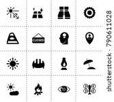 light icons. vector collection...