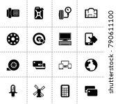 technology icons. vector... | Shutterstock .eps vector #790611100