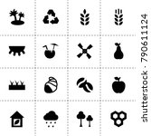 natural icons. vector...