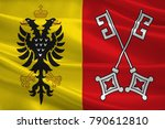 flag of minden is a town in the ...   Shutterstock . vector #790612810