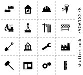 construction icons. vector... | Shutterstock .eps vector #790613278