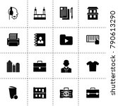 office icons. vector collection ...
