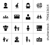 person icons. vector collection ...
