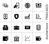 finance icons. vector...