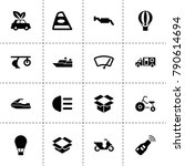 transport icons. vector... | Shutterstock .eps vector #790614694