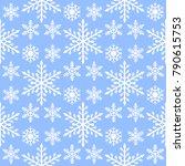 snowflake seamless pattern... | Shutterstock .eps vector #790615753