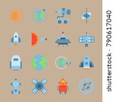icon set about universe. with... | Shutterstock .eps vector #790617040