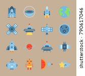 icon set about universe. with... | Shutterstock .eps vector #790617046