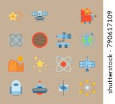 icon set about universe. with... | Shutterstock .eps vector #790617109