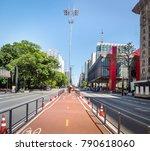 paulista avenue bike lane   sao ... | Shutterstock . vector #790618060