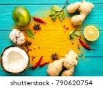 thai food background.... | Shutterstock . vector #790620754
