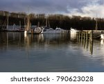 sailing ships anchored at the... | Shutterstock . vector #790623028