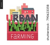 urban farming  gardening or... | Shutterstock .eps vector #790623358