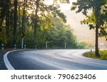 small and curve upcountry or... | Shutterstock . vector #790623406