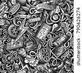 cartoon cute doodles electric... | Shutterstock .eps vector #790626274