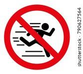 no running vector sign   Shutterstock .eps vector #790627564