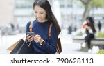 woman use of mobile phone and... | Shutterstock . vector #790628113