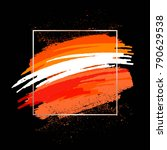 bright brush strokes on a black ...   Shutterstock .eps vector #790629538