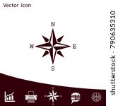 pictograph of compass | Shutterstock .eps vector #790635310