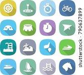 flat vector icon set   target... | Shutterstock .eps vector #790637899