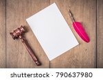 auction or judge gavel  vintage ... | Shutterstock . vector #790637980