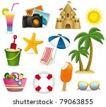 beach icon. vector | Shutterstock .eps vector #79063855