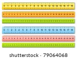 the six color rulers | Shutterstock .eps vector #79064068