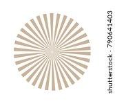 sunburst background. vector... | Shutterstock .eps vector #790641403