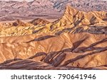 zabriskie point in death valley ... | Shutterstock . vector #790641946
