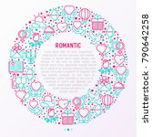 romantic concept in circle with ... | Shutterstock .eps vector #790642258