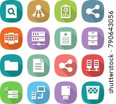 flat vector icon set   search... | Shutterstock .eps vector #790643056