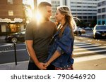 lovely young couple dressed in... | Shutterstock . vector #790646920