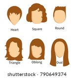 sets of face types and matching ... | Shutterstock .eps vector #790649374