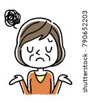senior woman  troubled ... | Shutterstock .eps vector #790652203