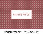 vector hearts and flowers... | Shutterstock .eps vector #790656649