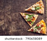 hot italian pizza with melted... | Shutterstock . vector #790658089
