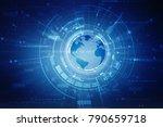 2d illustration network... | Shutterstock . vector #790659718
