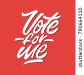 vote for me. premium handmade...   Shutterstock .eps vector #790664110