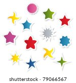 different shape stars. vector | Shutterstock .eps vector #79066567