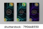 leaflet with green and purple... | Shutterstock .eps vector #790668550