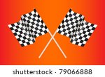 checkered racing flag on red... | Shutterstock .eps vector #79066888