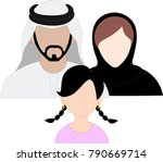 emirates family icon set   arab ... | Shutterstock .eps vector #790669714