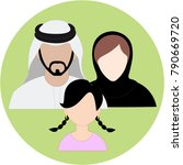 emirates family icon set   arab ... | Shutterstock .eps vector #790669720